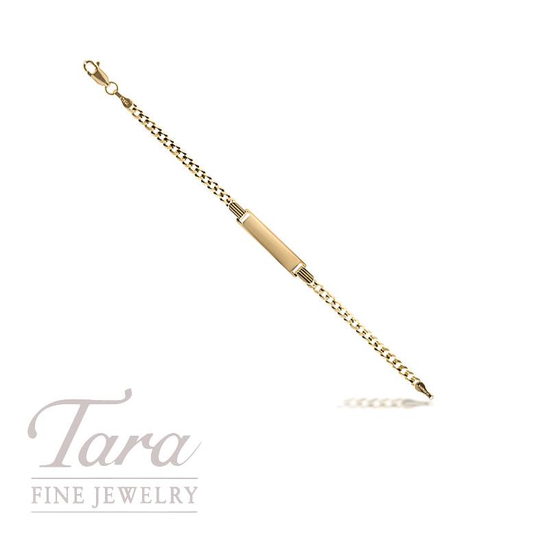 "Baby ID Bracelet in 14K Yellow Gold 5.5"""