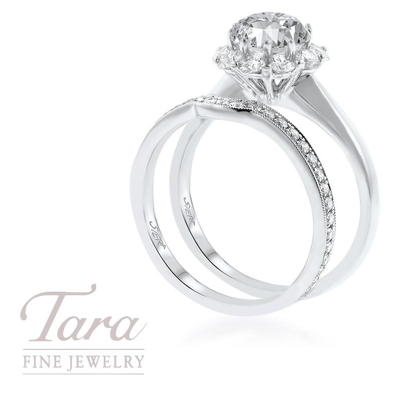 Forevermark 18K White Gold Diamond Engagement Ring .72ct Center Diamond