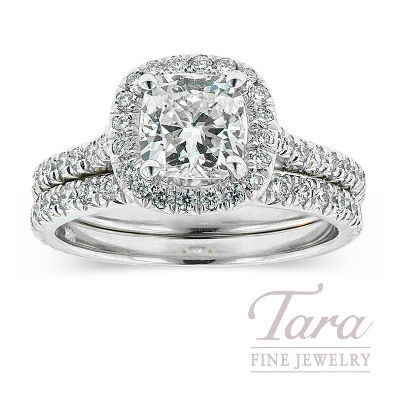 Diamond Wedding Set in 18K White Gold .66TDW (Center Stone Sold Separately)