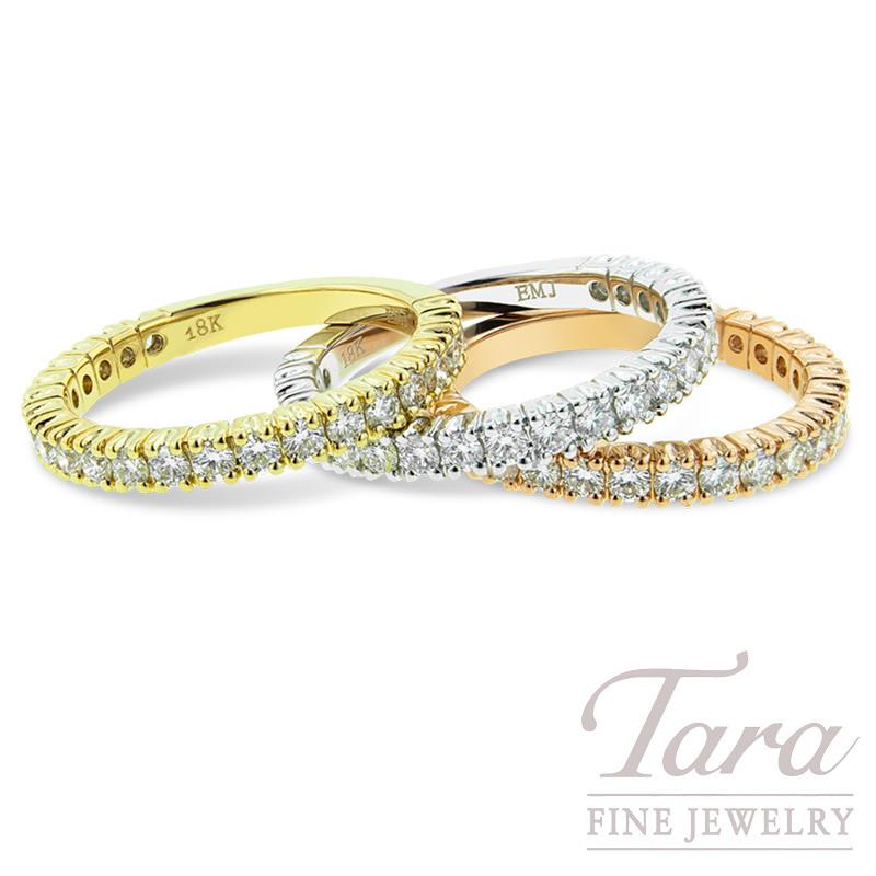 Diamond Wedding Band In 18k Yellow  White  Or Rose Gold .69 TDW 3.3G 22 Round Diamonds