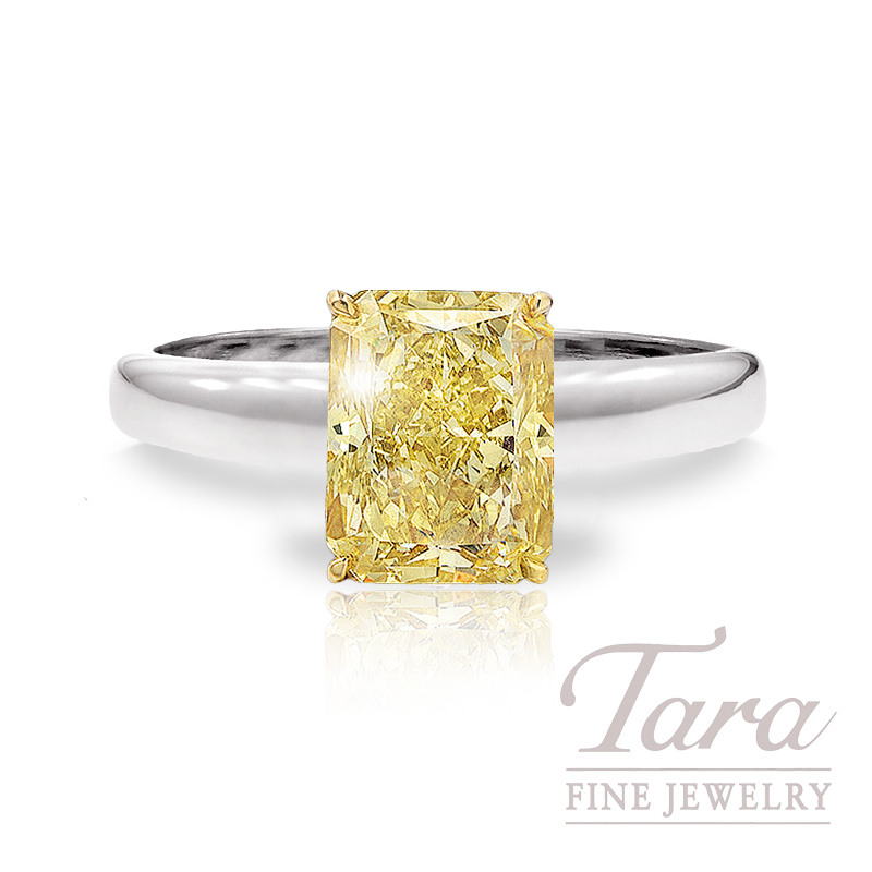 Forevermark Fancy Yellow Radiant Cut Diamond