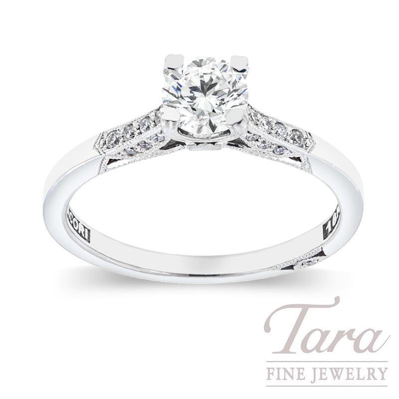 Forevermark Diamond Engagement Ring in18K White Gold .51CT Center, .10TDW Mounting