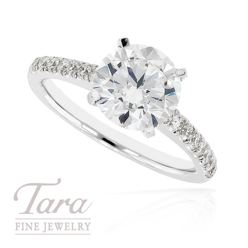 J.B. Star Diamond Engagement Ring in Platinum, .30 ctw (Center stone sold separately)