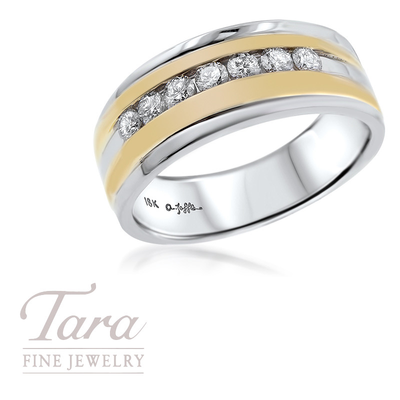 Men's 18K Two Tone Band .49TDW