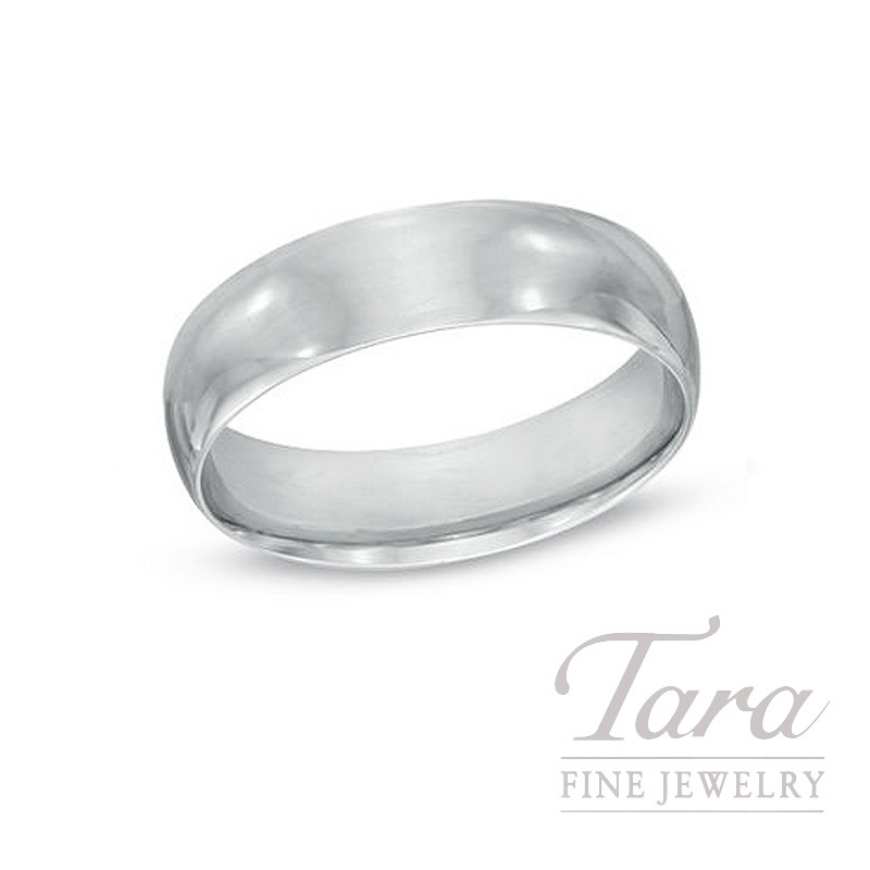 Mens Sterling Silver Wedding Band, 7MM - Click for Available Sizes