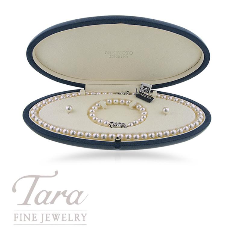 Mikimoto Bracelet, Earring, and Necklace Set