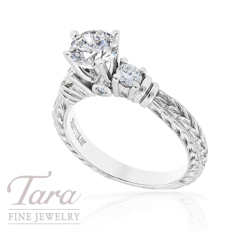 Scott Kay Diamond Ring in Platinum .33twd (Center stone sold separately)