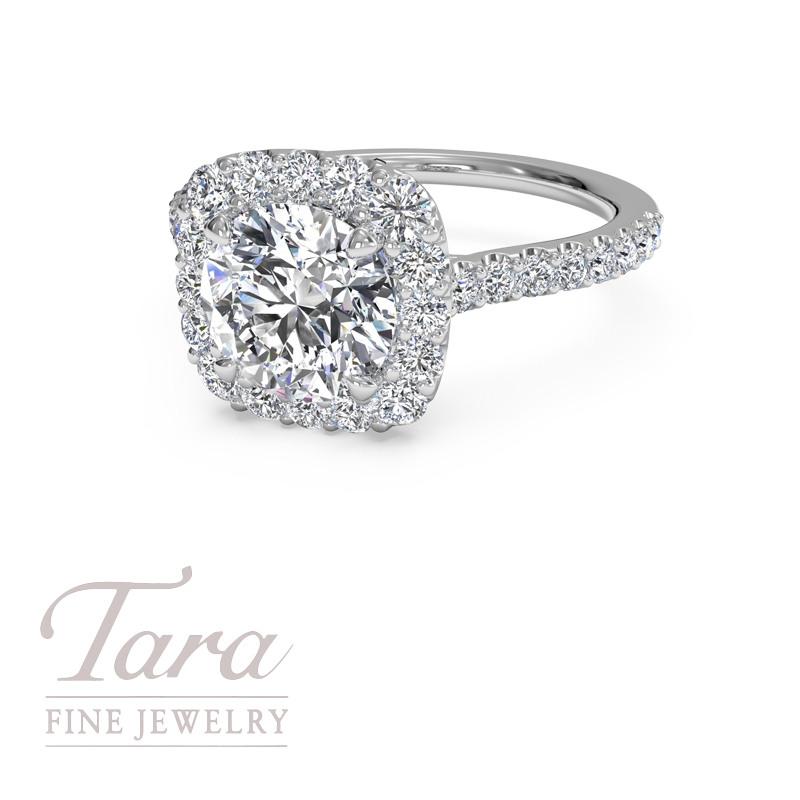 Ritani 18K White Gold Engagement Ring .47TDW (Center Stone Sold Separately)