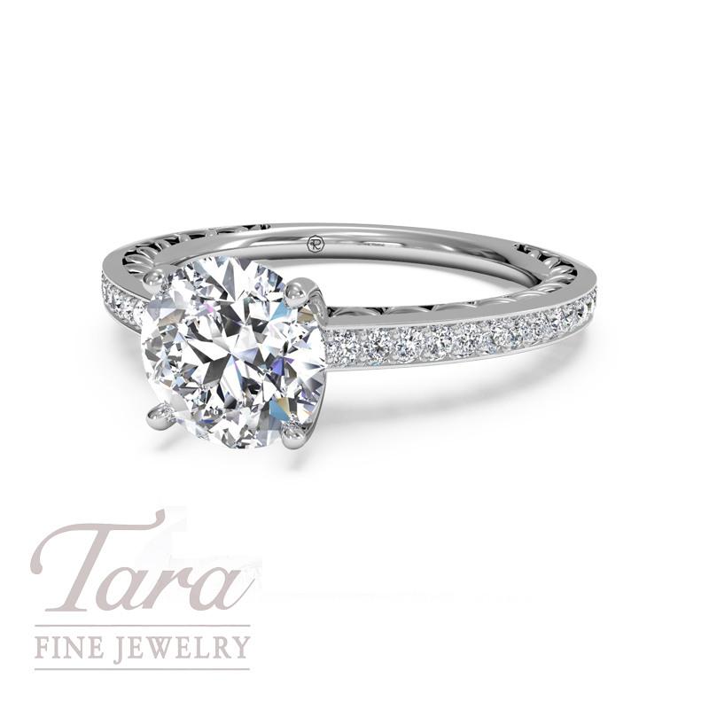 Ritani Anadara Engagement Ring in 18K White Gold .11TDW (Center Stone Sold Separately)