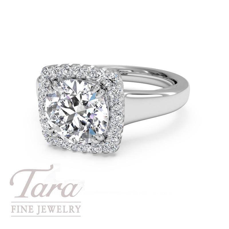 Ritani Bella Vita Diamond Engagement Ring in 18K White Gold .14TDW (Center Stone Sold Separately)