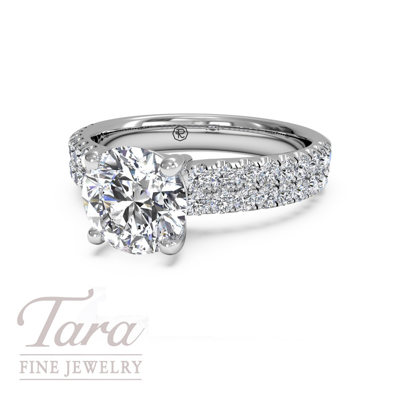 Ritani Diamond Engagement Ring in 18K White Gold .45TDW (Center Stone Sold Separately)