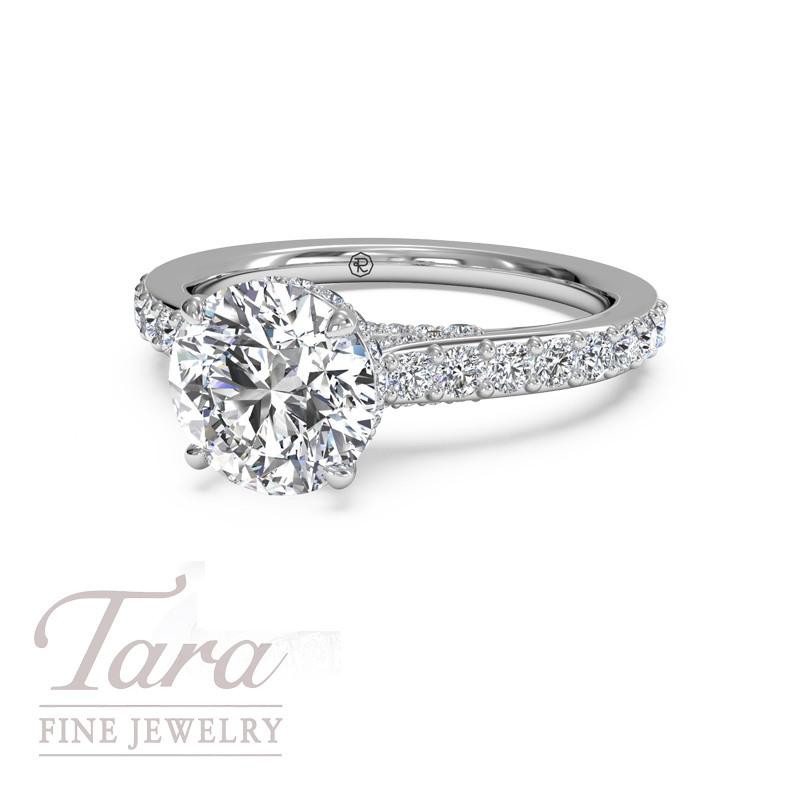 Ritani Diamond Engagement Ring in 18K White Gold .54TDW (Center Stone Sold Separately)