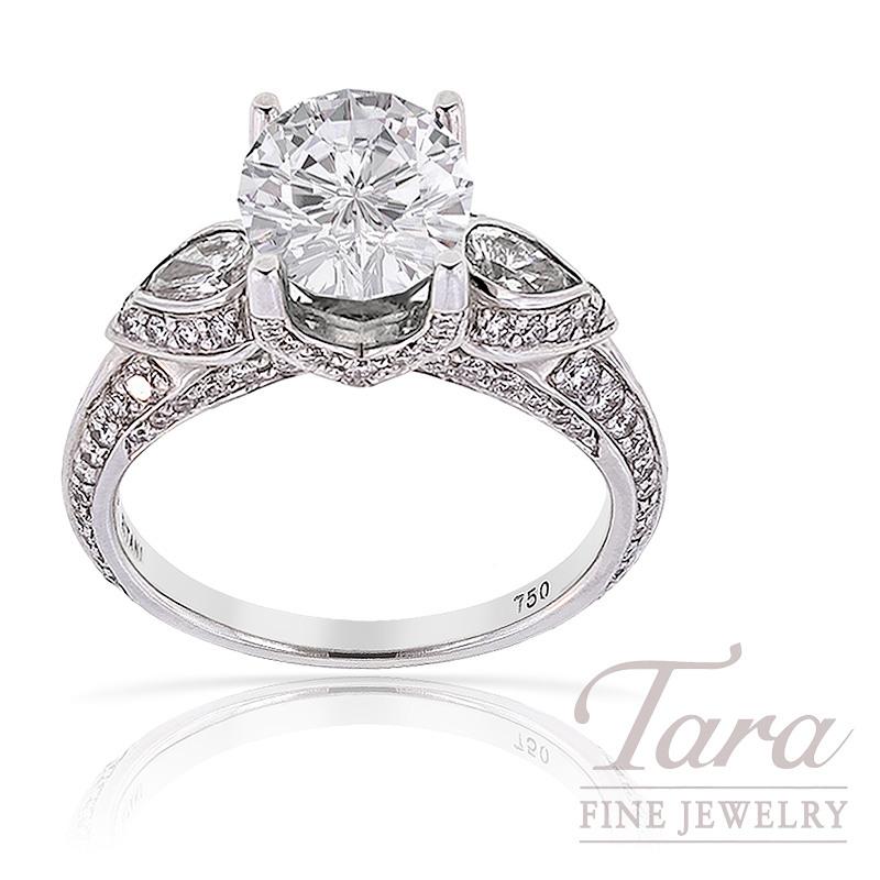 Ritani Diamond Engagement Semi Mount .59 TDW (Center Stone Sold Separately)