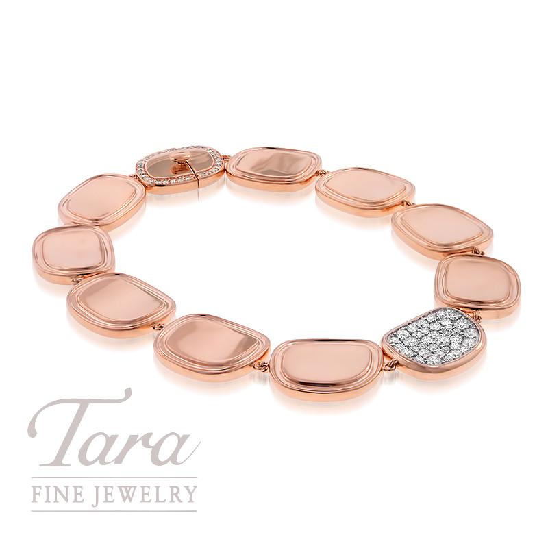 Roberto Coin 18K Rose Gold and Diamond Bracelet .84TDW