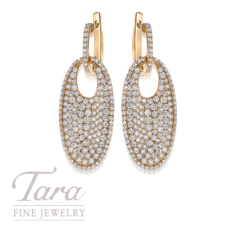 Roberto Coin 18K Yellow Gold Diamond Earrings 4.40TDW