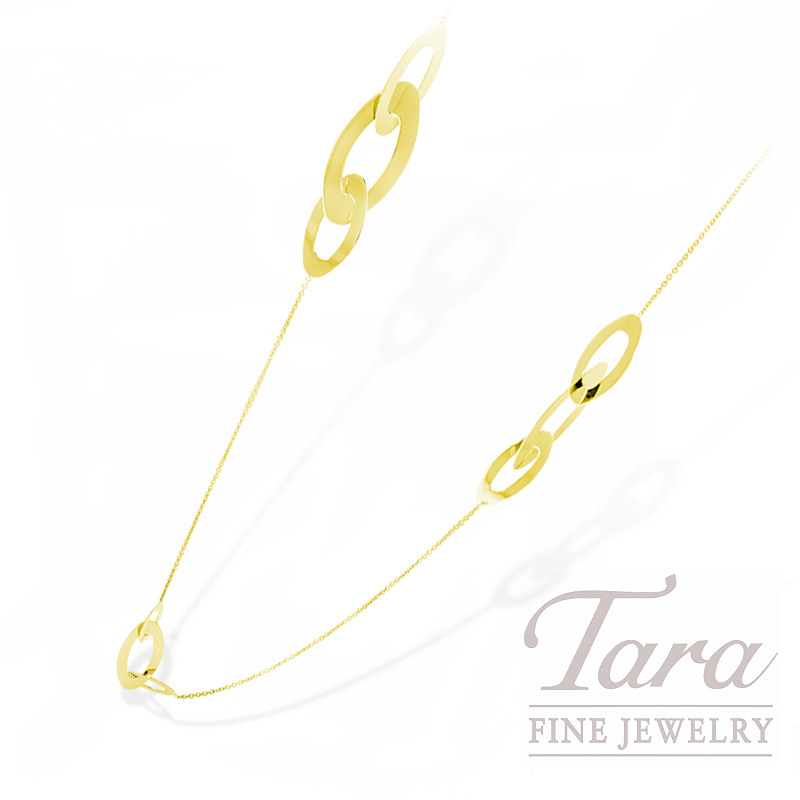 """Roberto Coin 18k Yellow Gold Necklace """"Oval Chic & Shine"""""""