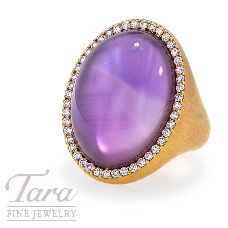Roberto Coin Amethyst and Diamond Ring .42TDW, in 18k Rose Gold
