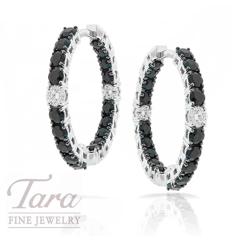 Roberto Coin Black Sapphire & Diamond Earrings .26TDW