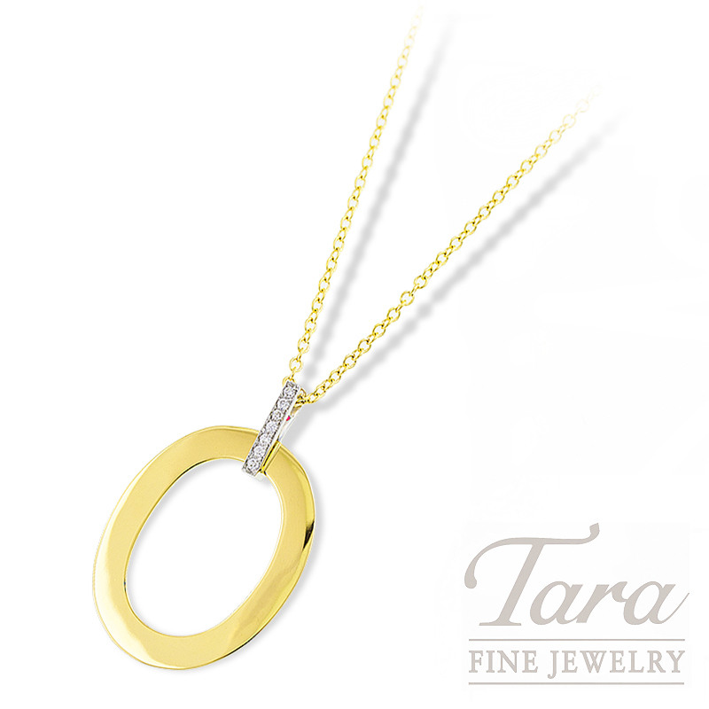 """Roberto Coin """"Chic and Shine"""" Necklace 18K Yellow Gold & White Gold, .08TDW 16/18"""""""