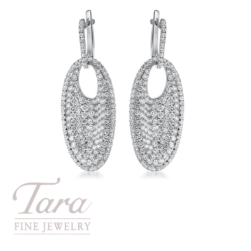 Roberto Coin Diamond Earrings in 18K White Gold 4.40TDW