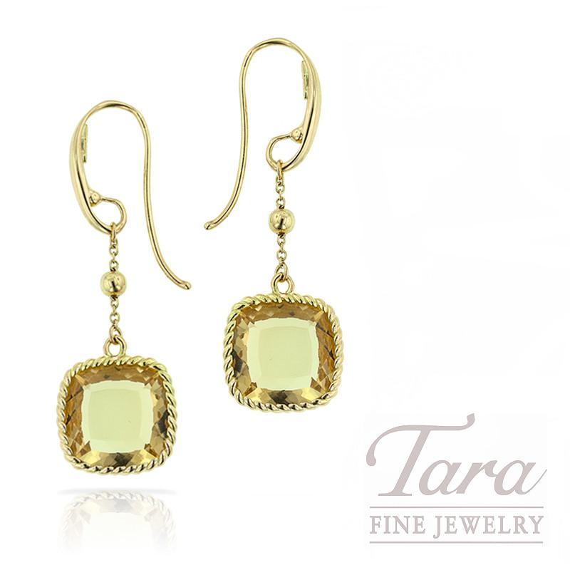 Roberto Coin Earrings, Golden Quartz18K Yellow Gold 5.1G