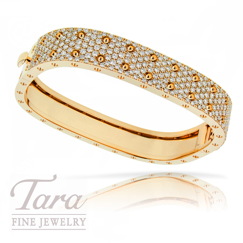 Roberto Coin Bangle in 18K Rose Gold from the Pois Moi Collection 3.62TDW