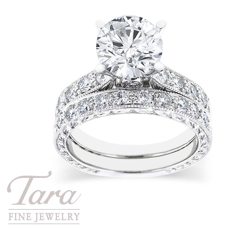 Scott Kay Platinum Diamond Engagement Ring & Wedding Band, .78TDW
