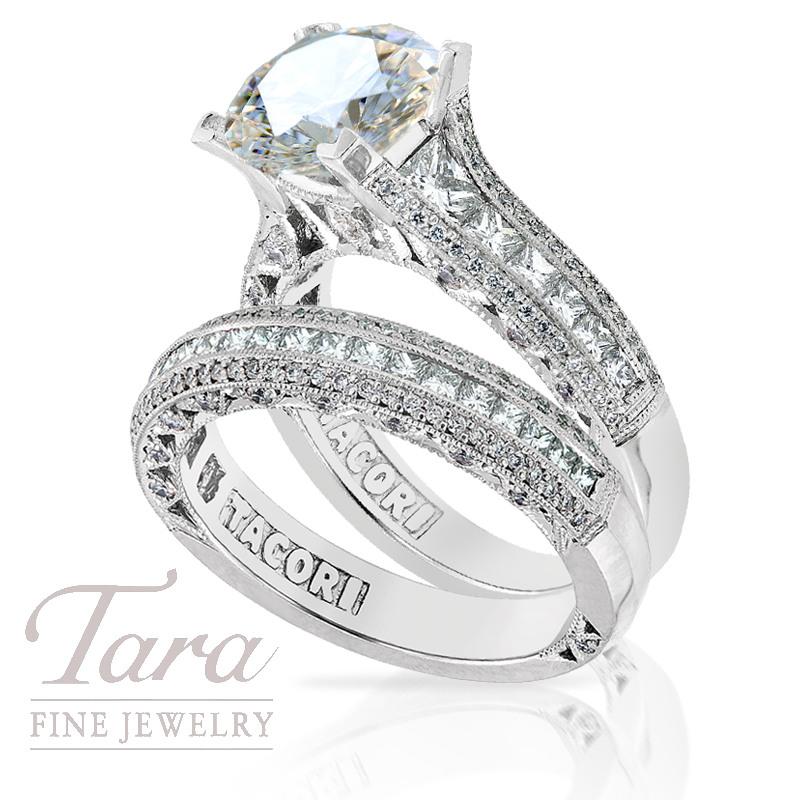 Tacori Diamond Engagement Ring in Platinum, 1.38tdw & Band, .63tdw (Center stone sold separately)