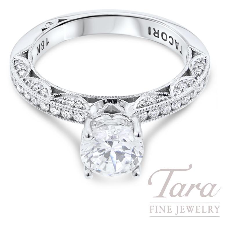 Tacori Diamond Engagement Ring 18K White Gold .41TDW (Center Stone Sold Separately)
