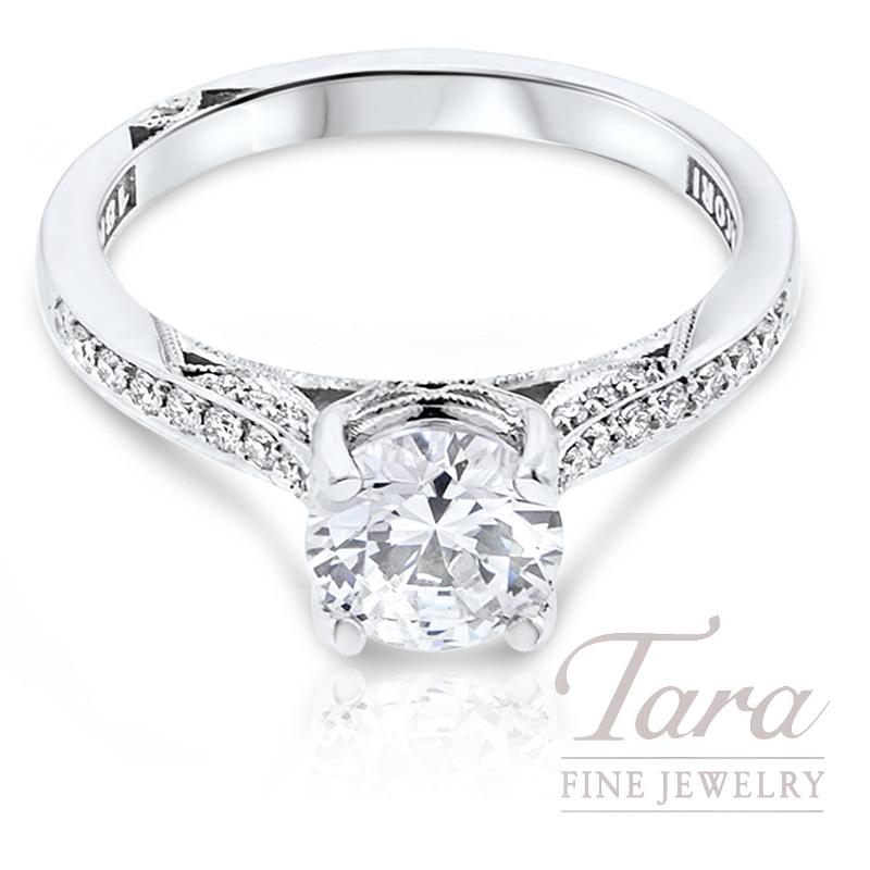 Tacori Diamond Engagement Ring 18k White Gold .20TDW (Center Stone Sold Separately)