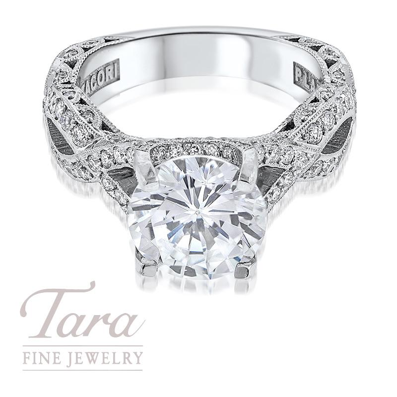 Tacori Diamond Engagement Ring Platinum .87TDW (Center Stone Sold Separately)