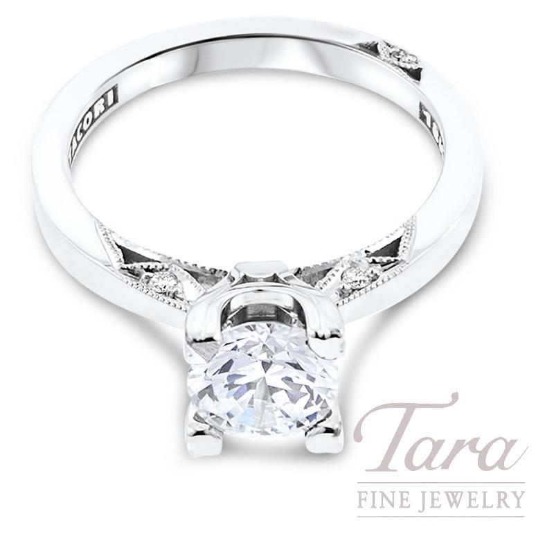 Tacori Diamond Engagement Ring in 18K White Gold .05TDW (Center Stone Sold Separately)