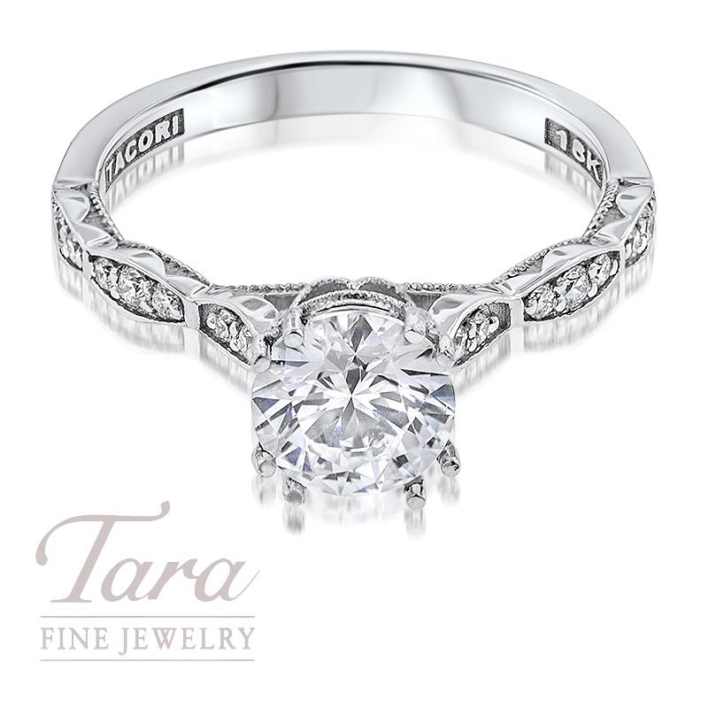 Tacori Diamond Engagement Ring in 18K White Gold .16TDW (Center Stone Sold Separately)