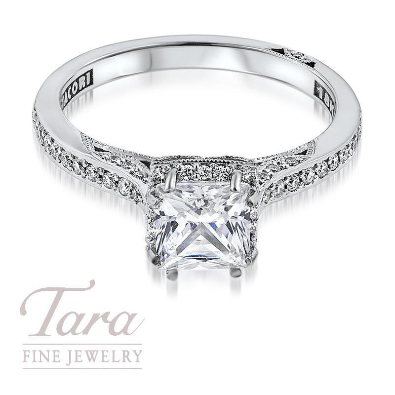 Tacori Diamond Engagement Ring in 18K White Gold .25TDW (Center Stone Sold Separately)