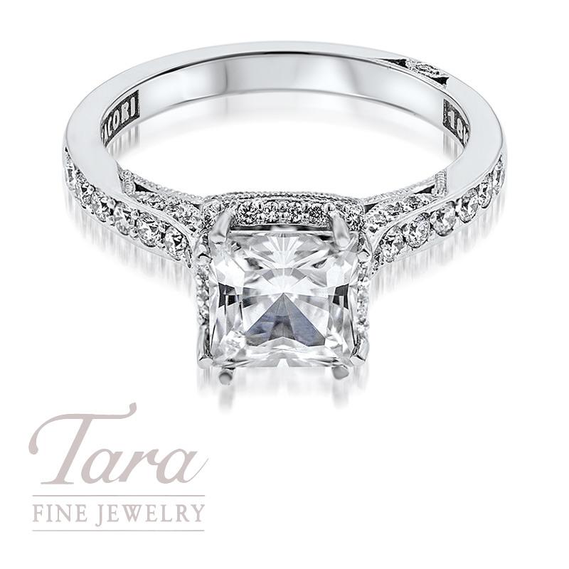 Tacori Diamond Engagement Ring in 18K White Gold .35TDW (Center Stone Sold Separately)