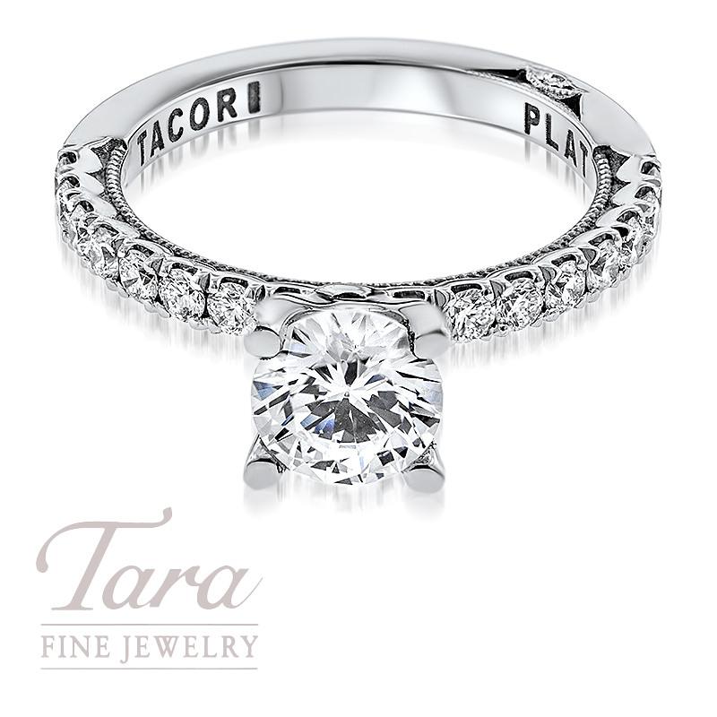 Tacori Diamond Engagement Ring in Platinum .53TDW (Center Stone Sold Separately)