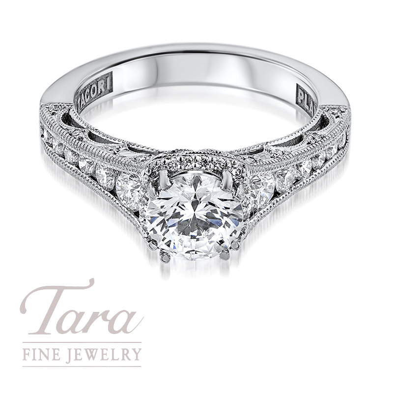 Tacori Diamond Engagement Ring in Platinum .66TDW (Center Stone Sold Separately)