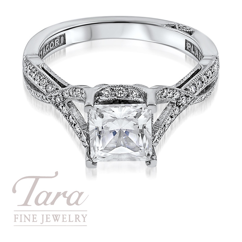 Tacori Platinum Diamond Engagement Ring .22TDW (Center Stone Sold Separately)