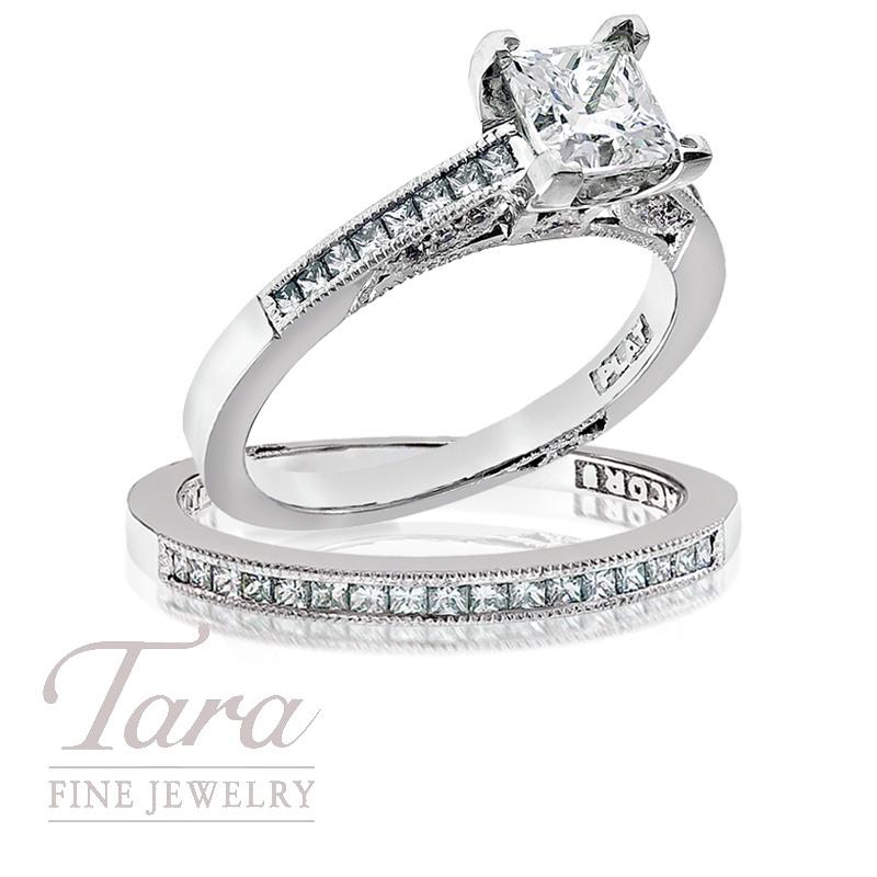 Tacori Diamond Wedding Ring,  .32 TDW & Band, .26 TDW
