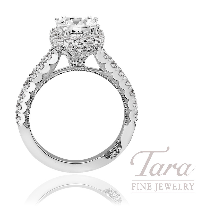 Tacori Diamond Wedding Ring Platinum 77 CT TW Center stone
