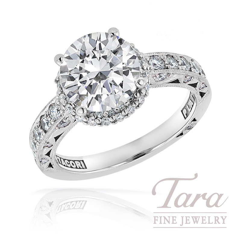 Tacori Diamond Wedding Ring in Platinum 60ct tdw Center stone