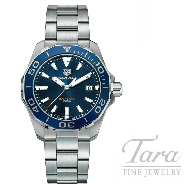 Tag Heuer 41mm Aquaracer Quartz, Blue Dial