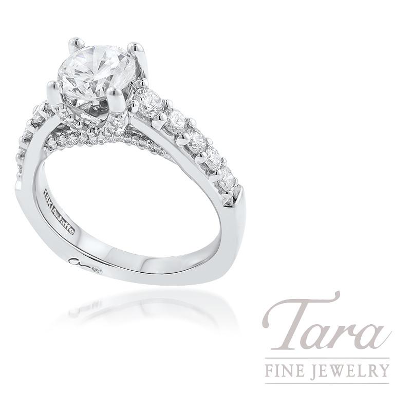 A. Jaffe 18k White Gold Diamond Engagement Ring, 7.0G, .83TDW (Center Stone Sold Separately)