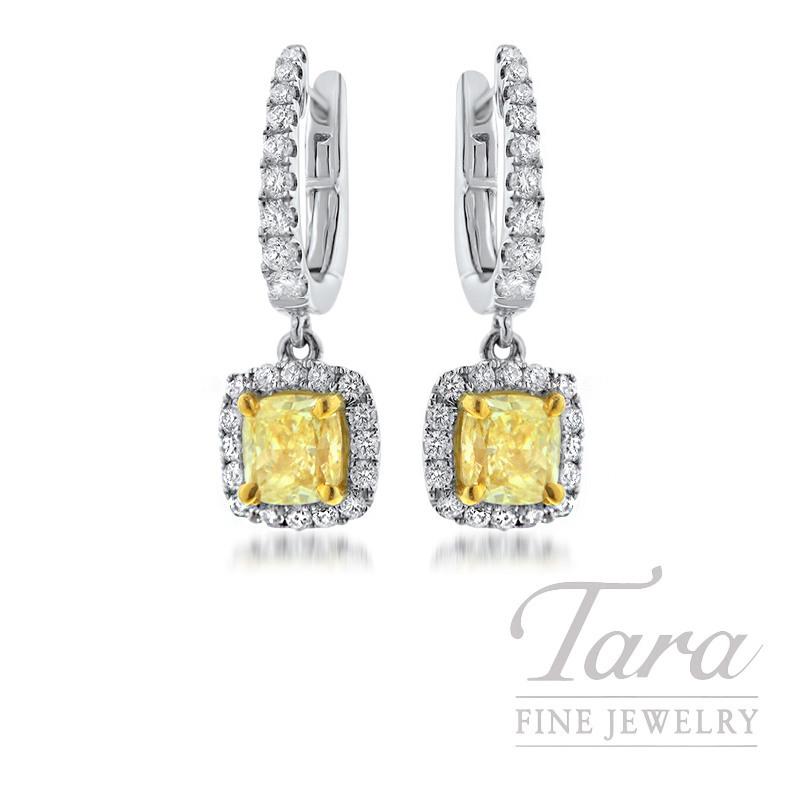 Forevermark 18K Two-Tone Yellow Diamond Earrings, 1.33TDW
