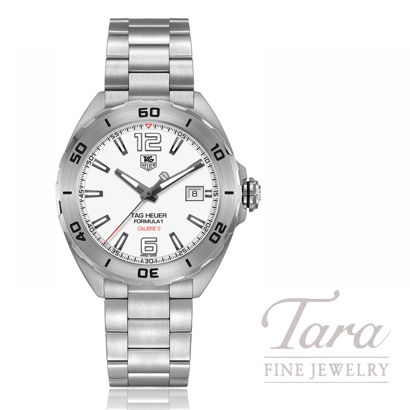 Tag Heuer Watch 41mm Formula 1 Automatic, White Dial