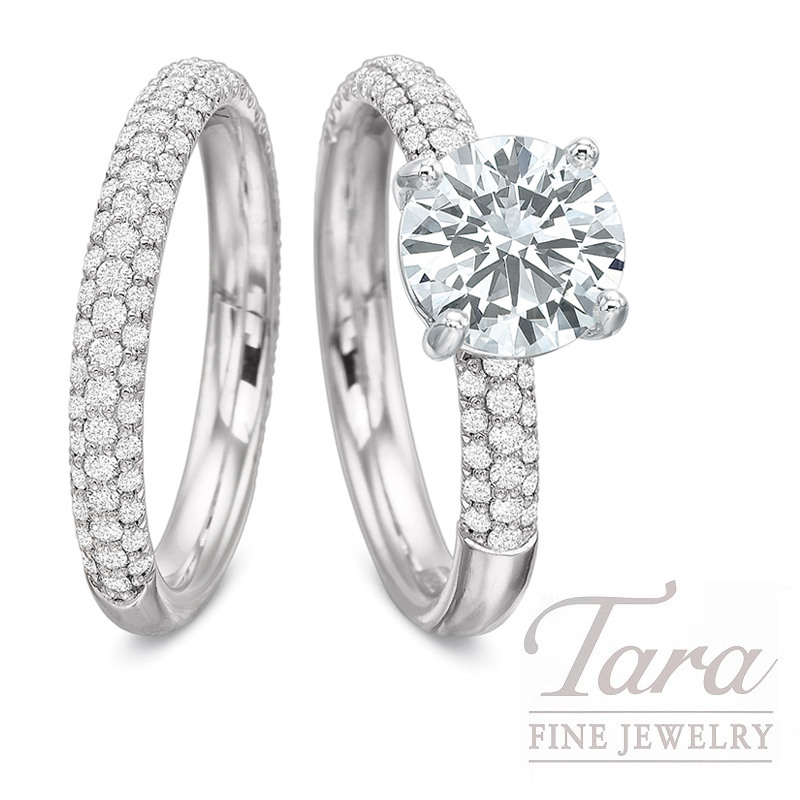 18k White Gold Pave Diamond Wedding Set - Click for Available Sizes! (Click for Available Sizes!)