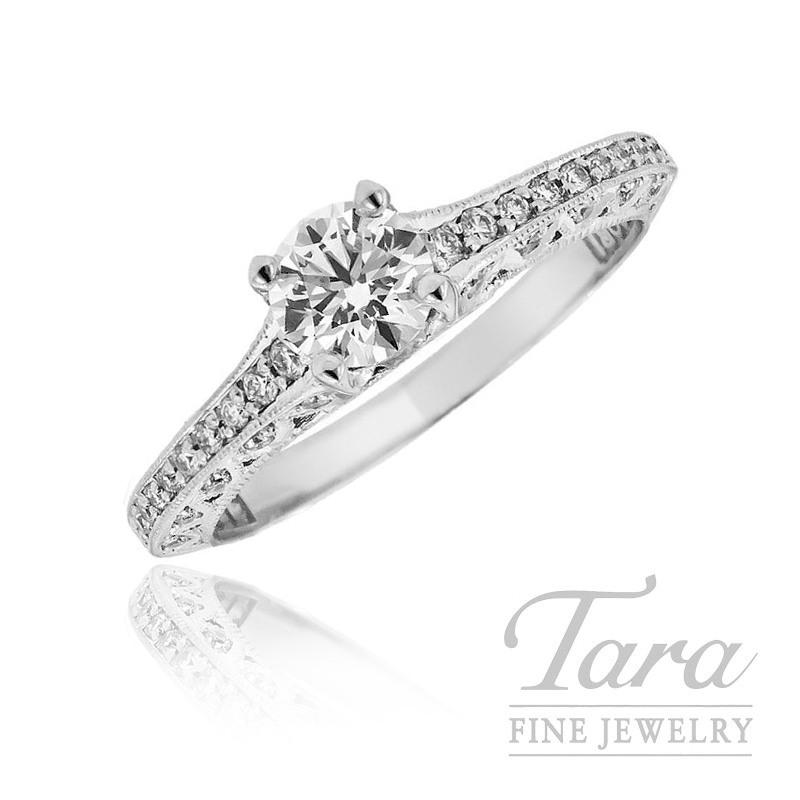 Forevermark Diamond Engagement Ring, .48CT (J, VS2) in .22TDW 18k White Gold Setting
