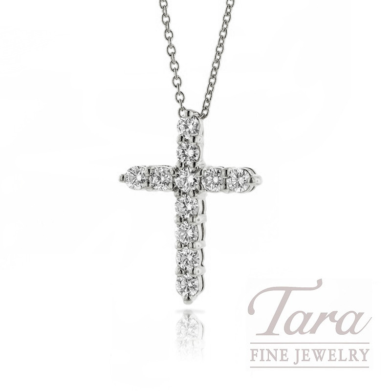 Roberto Coin 18K White Gold Diamond Cross Necklace - Click for Available Sizes!