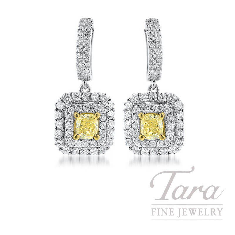 Forevermark 18K Two-Tone Yellow Diamonds Earrings, .73TDW