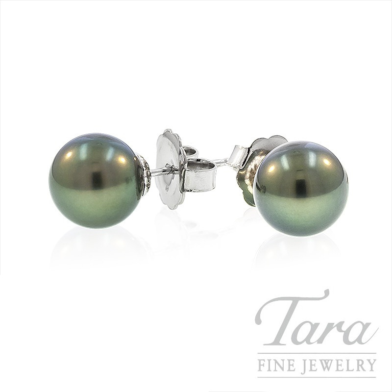 Mikimoto Black Pearl Stud Earrings - Click for Available Sizes!
